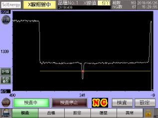 SPOT型センサ波形画面